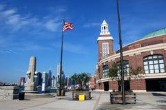chicago marinpir arkivbild