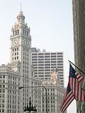 Chicago-Markierungsfahnen Stockfotografie