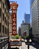 Chicago Marquee Stock Photo