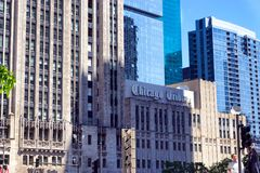Tribune Tower in Chicago royalty free stock images