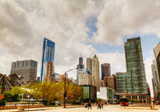 Cityscape of Chicago with the Willis Tower (Sears Tower) Royalty Free Stock Images