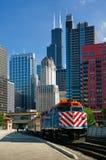 Chicago metra train royalty free stock photos