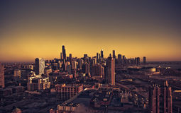 chicago miasta linia Obrazy Royalty Free