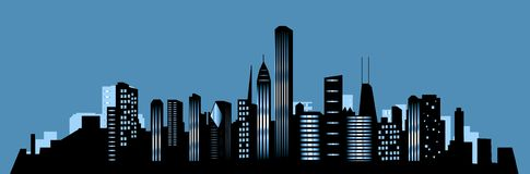 chicago miasta linia horyzontu Obraz Stock