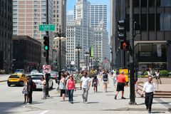 Chicago - Michigan Avenue Royalty Free Stock Photos