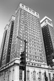 Chicago, Michigan Avenue, monochrome Stock Image