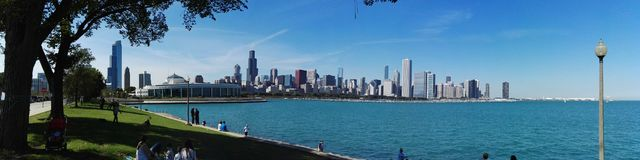 Chicago. Michigan lake landscape cityscape Stock Photo
