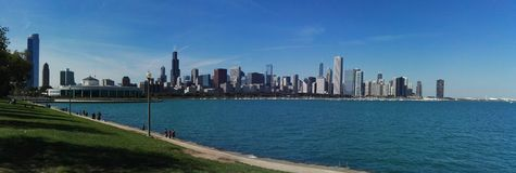 Chicago. Michigan lake landscape cityscape stock photos
