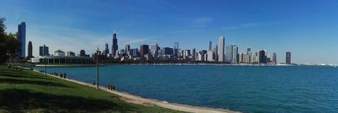 Chicago. Michigan lake landscape cityscape Stock Photos