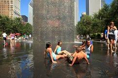 chicago milenium park zdjęcia stock