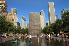 chicago milenium park obrazy stock