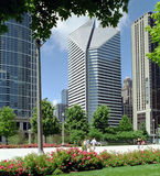 Chicago Millenium Park Illinois USA. Downtown Chicago, from Millennnium Park royalty free stock photo