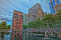 Chicago Millennium Fountain Stock Photo