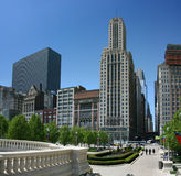Chicago Millennium Park at East Madison st Stock Image