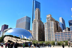 Chicago Millennium Park, Slivery Bean Stock Images