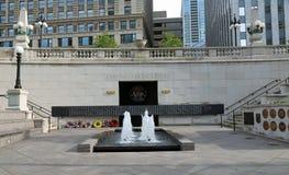 chicago minnesmärke vietnam Arkivbilder