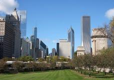 Chicago modern byggnad Fotografering för Bildbyråer