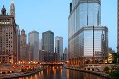 chicago morgon Arkivfoton