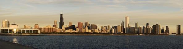 Chicago morning panorama Stock Photo