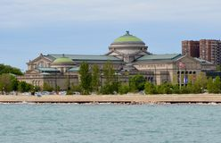 Chicago MOSI. This is a Spring picture of the Chicago Museum of Science and Industry located in the Hyde Park neighborhood of Chicago, Illinois.  This picture Royalty Free Stock Photo