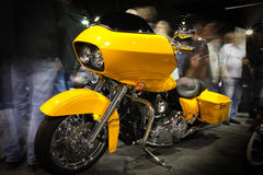Chicago Motorcycle Show - motion blur stock photography