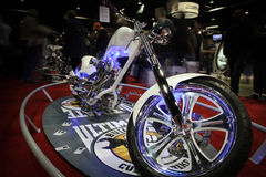 Chicago Motorcycle Show - motion blur Royalty Free Stock Images