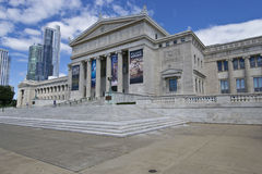Chicago Museum of Natural History. May be used to advertise for upcoming exhibits at the Museum stock photos