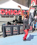 Chicago The Musical. An actress promotes the musical chicago at the Broadway on Broadway Event at Times Square in NY Royalty Free Stock Photos