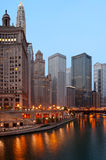 Chicago na manhã. Imagens de Stock Royalty Free
