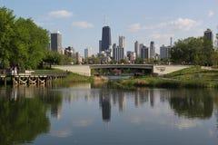 Chicago na mola Imagens de Stock Royalty Free