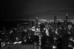 Chicago na noite Fotografia de Stock