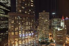 Chicago-Nacht lizenzfreie stockfotografie