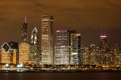 Chicago nachts Lizenzfreies Stockfoto