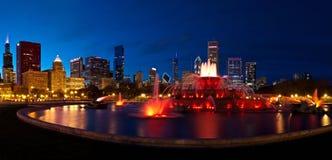 Chicago nachts Stockbilder