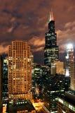 Chicago nachts Lizenzfreies Stockbild
