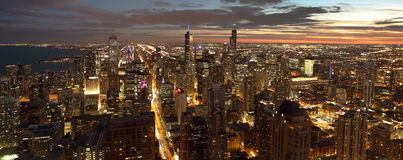 Chicago nachts Lizenzfreie Stockfotografie