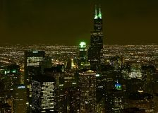 Chicago-Nachtszene Stockfotografie