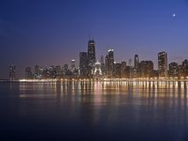 chicago natt Royaltyfri Foto