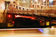 chicago nattflod Fotografering för Bildbyråer
