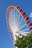 Chicago Navy Pier Ferris Wheel Close Up Royalty Free Stock Image
