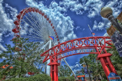 Chicago Navy Pier Ferris Wheel Royalty Free Stock Images