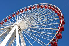 Chicago navy pier giant ferris wheel close up Royalty Free Stock Images