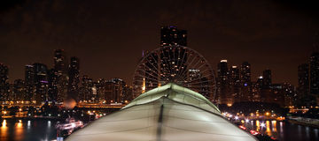 Chicago Navy Pier at night Royalty Free Stock Images