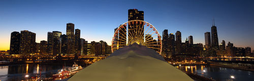 Chicago Navy Pier panorama Royalty Free Stock Photo