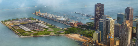 Chicago Navy Pier Panorama Stock Photos