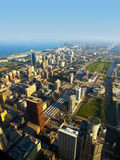 Chicago Near South Side Aerial View. Aerial View of the Chicago Near South Side Streets royalty free stock images