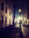 Chicago Night. Chicago neighborhood at night Stock Photo