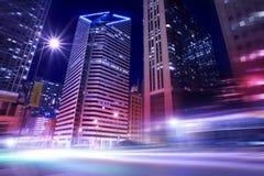 Chicago nel moto Immagini Stock