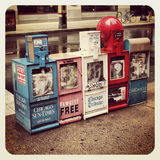 Chicago news paper stand Royalty Free Stock Photos
