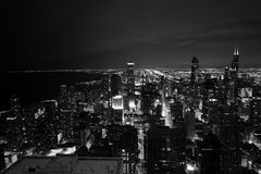 Chicago at night Stock Photography